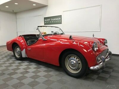 Triumph TR3 4-SPEED WITH OVERDRIVE GEARBOX 1958 TRIUMPH TR3A SPORTS ROADSTER. NICE RUNNING, DRIVING CAR FOR IMPROVEMENT
