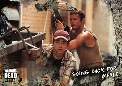 Walking Dead Road To Alexandria BASE Trading Card #10 / GOING BACK FOR MERLE