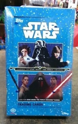 Topps Journey to STAR WARS: The Force Awakens SEALED Hobby Box w/ 2 hits per box