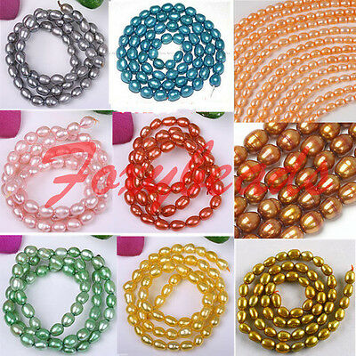 4-5mm Wholesale Cultured Freeform Rice Oval Fresh Water Pearl Loose Beads Hot