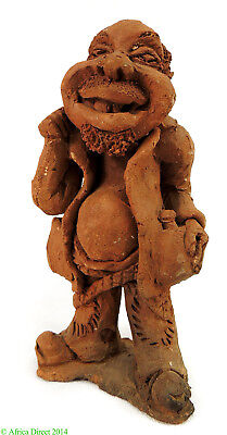 """Clay Figure """"Drinker"""" Malawi African Contemporary Craft"""