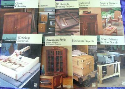 WOODSMITH WOODWORKING:  9 BOOKS from time life carpentry joinery cabinetry