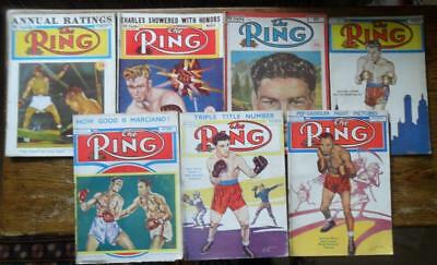 Lot of 7 vintage magazines 1951 THE RING boxing illustrated