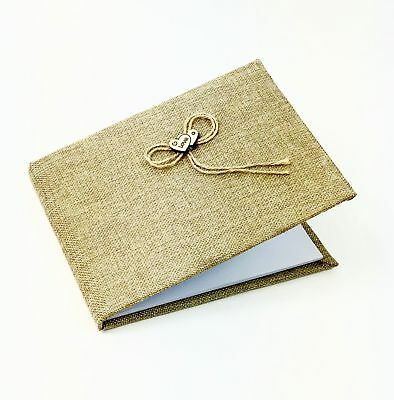 Wedding Guest Book Signing Hessian Vintage Shabby Chic Rustic Love Heart Gift