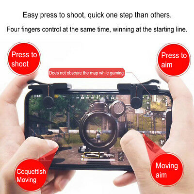 Mobile Gaming Trigger Aim Fire Button Shooter Controller L1R1 For Cell Phone Pop