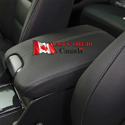 For 2008-2012 Honda Accord Black Real Leather Console Lid Arm Rest Armrest Cover