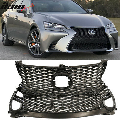 Fits 16-19 Lexus GS FSport Style Upper+Lower Grille Front Mesh Grill - ABS