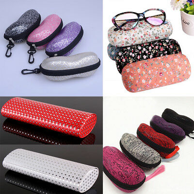 Zipper Sunglasses Hard Eye Glasses Case Eyewear Protector Box + Cleaning Cloth