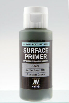 Vallejo 60ml Acrylic Russian Green Primer # 73609