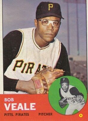 Topps 1963 #87 Bob Veale-Pittsburgh Pirates
