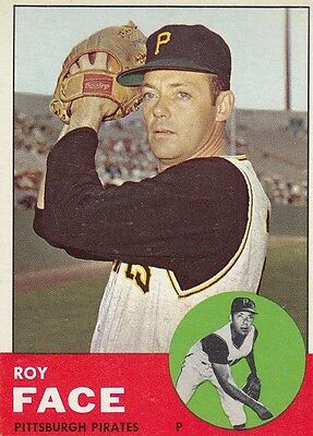 Topps 1963 #409 Roy Face-Pittsburgh Pirates