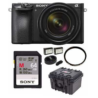 Sony a6500 Mirrorless Camera with 18-135mm Lens and 64GB Essentials Bundle