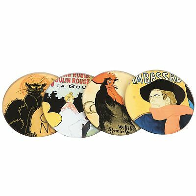 John Beswick CS09PAR Lautrec Steinlen Coaster Set of 4