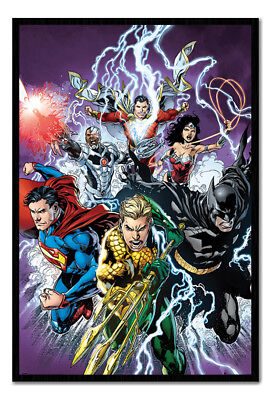 Framed Justice League Strike Poster New
