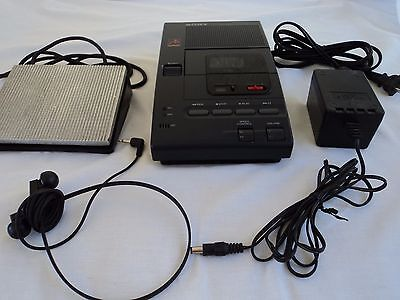 Sony M-2000 Microcassette Dictator/Transcriber sold for Parts Repair Foot pedal