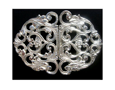 Hallmarked Silver Nurse Buckle.  Brand New Silver Buckle Heart & Rose Design