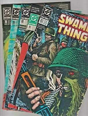 Swamp Thing~~~>  #'s 78,79,80,81 & 82  >> in VF+/NM- condition