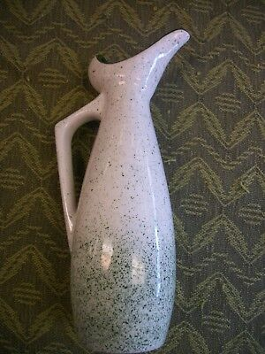 "Rare Unique Modern Art Pottery vase, small pitcher, Signed ""SF"", Very Nice!"