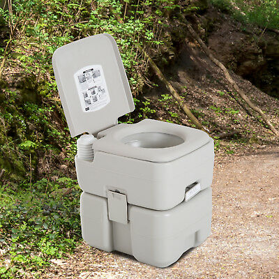Portable Travel Toilet Detachable Tank 3 Way Pistol Easy to Use Camping Hiking