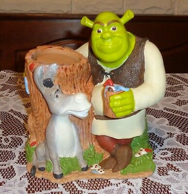 Shrek & Donkey Dixie Cup Dispenser-Holds Small Cups-Great 4 Collector's/Bathroom