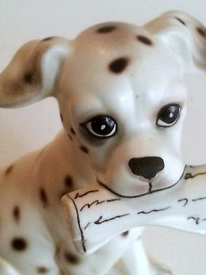 cast dalmatian ceramic puppy CUTE vintage without markings