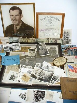 Wwii Soldier Grouping Hq Battery 139Th Field Artillery Battalion Photos Dog Tags