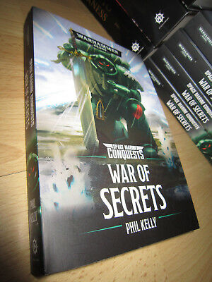 SIGNED Phil Kelly WAR OF SECRETS PB MINT Warhammer 40K  Space Marine Conquests