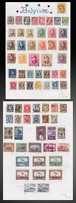 1881 To 1930 Belgium On Old Page Album Mint And Used Scott Value More 730 Us$