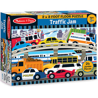 Melissa & Doug 24 Pieces Traffic Jam