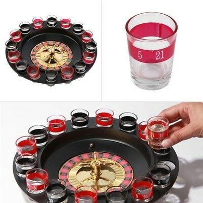 Popular Shot Glass Roulette Set Novelty Drinking Game Bar Party Game with 16Shot