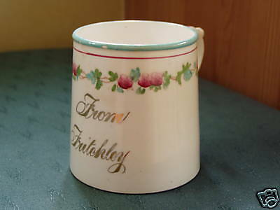 Vintage Victorian Fritchley Belper Derby Commemorative Mug