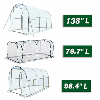 Walk-in Tunnel Greenhouse Portable Garden Plant Growing House Transparent
