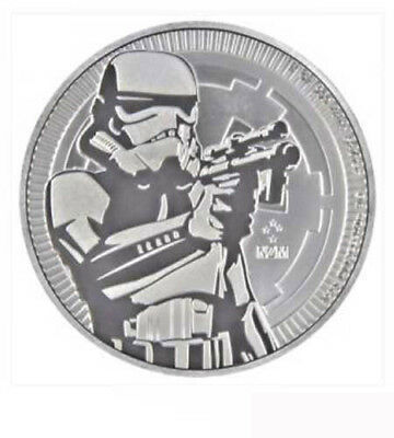 Niue 2 Dollar 2018 Stormtrooper Star Wars 1 Oz Silber