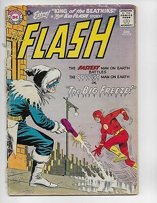 Flash 114 - Fr/gd 1.5 - 2Nd Appearance Of Captain Cold - Kid Flash (1960)