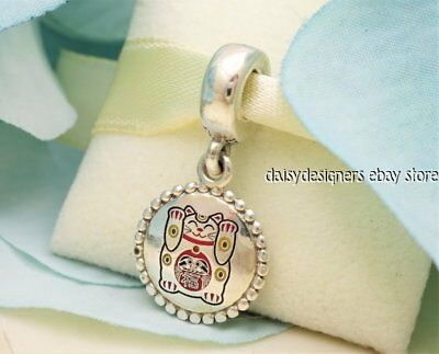 Authentic Pandora Lucky Cat Charm Asian Lucky Kitty With Gift