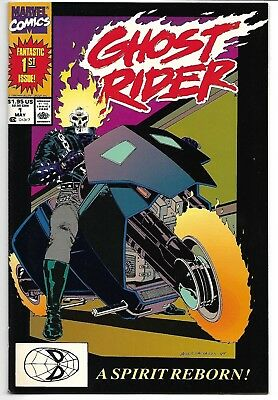 Ghost Rider Vol 2 #1 Nm- 1990 Howard Mackie Javier Saltares Marvel Comics