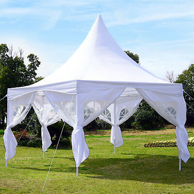 Pagoda Party Tent Outdoor Events Gazebo Canopy Backyard White