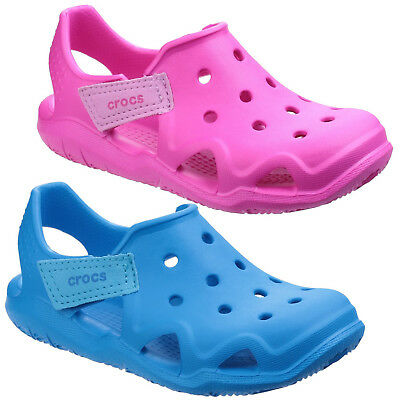 be796970878d00 Crocs Swiftwater Wave Clogs Childrens Croslite Kids Boys Girls Shoes Sandals