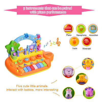 Smart Animal Farm Piano Musical Keyboard Early Educational Toys Baby Kids Gift