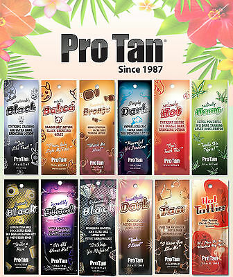 Pro Tan Sunbed Tanning Lotion Sachets Natural Accelerators,Bronzers & Hot Tingle