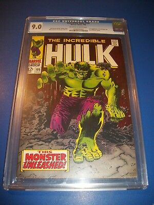 Incredible Hulk #105 High Grade Silver CGC 9.0 Classic Cover 1st Missing Link!