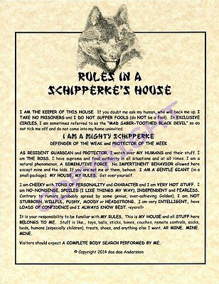 Rules In A Schipperke's House