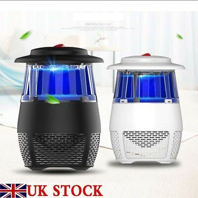 UK Portable Smart LED UV Electric Mosquito Killer Lamp USB Charge Flies Catcher