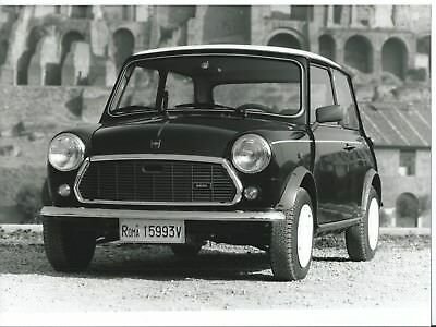 Mini Special Edition Roma Licence Plates Italian Press Photograph