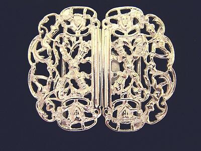 Hallmarked Silver Nurse Buckle.  Brand New Silver Buckle Crossed Torch Design