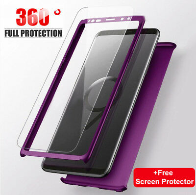 For Samsung Galaxy S10 S9 Plus 360° Shockproof Full Body Hybrid Hard Case Cover
