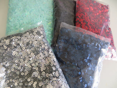 Loose Sequins Round Flat 4mm x1000 Pieces Holographic Sewing Art Craft Jewellery