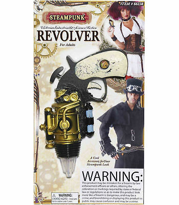 Steampunk Science Fiction Mens Women Weapon Costume Space Gun Pistol Revolver