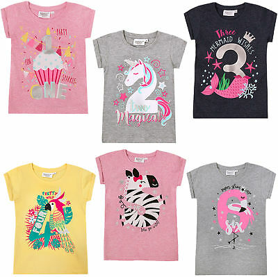 Girls New Birthday I Am 1 2 3 4 5 6 Years Top Kids Age Number