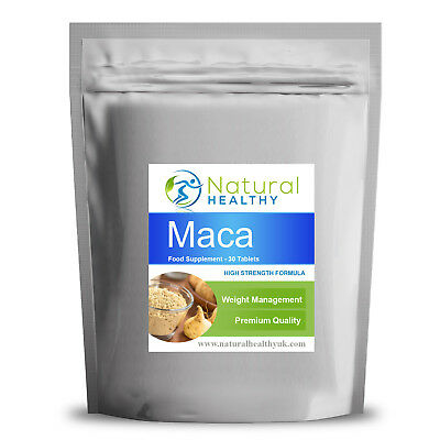 30 MACA Root Extract 500mg Tablets - High Quality UK Made - Test libido Booster